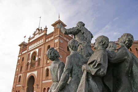 Bullfighter sculpture in front of Bullfighting arena Plaza de Toros de Las Ventas in Madrid Stock Photo - 17025148
