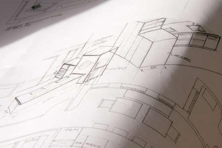 Rolls of architecture blueprint, house plane Stock Photo - 17037024