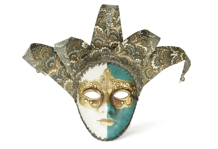 Elegant mask Carnival Venetian isolated on white background  Clipping Path