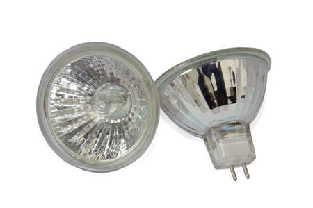 Halogen lamp isolated on white background  Clipping Path