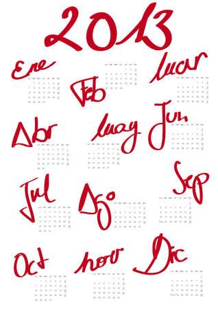 Modern 2013 calendar