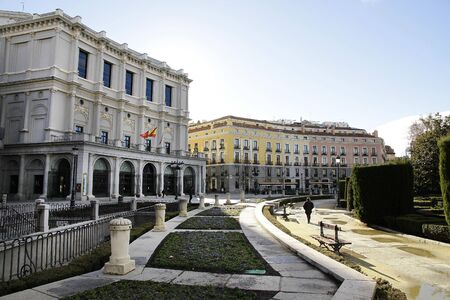 The Plaza de oriente in madrid Spain Stock Photo - 17298241