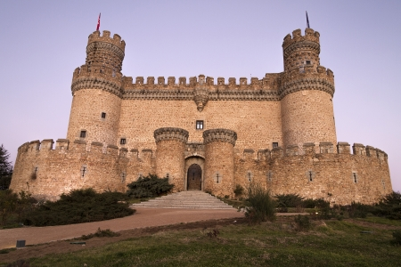 The Mendoza Castle, situated in Madrid region, is a fortress-palace from the 15th century Stock Photo - 17298237