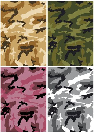 camouflage pattern: Camouflage background of different colors with classic pattern Illustration
