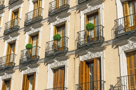 Typical windows and balconies in Madrid Stock Photo - 17709548