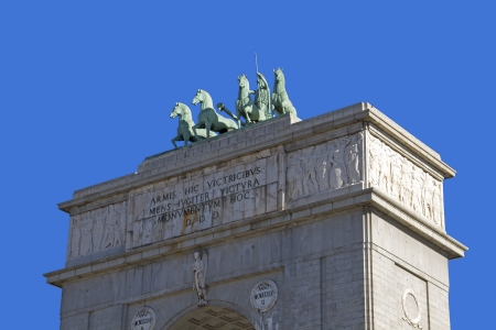 Triumphal arch of Madrid, Spain  Close up Stock Photo - 17808739