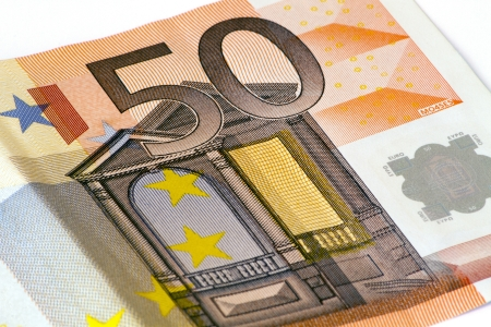 fifty euro banknote: Close up of a fifty euro banknote Stock Photo
