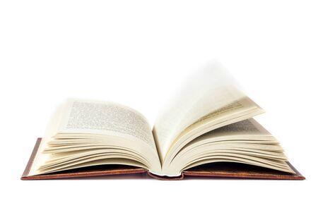 Beyaz zemin üzerine Açık kitap