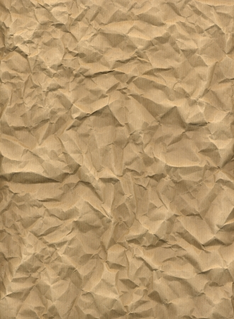 Crumpled kraft paper in HD Stock Photo