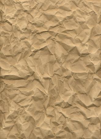 Crumpled kraft paper in HD Stock Photo