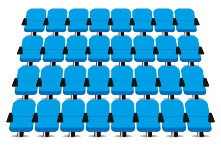 Cinema seats vector on white