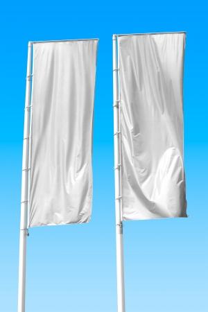 verticales: Dos pancartas verticales vacías. Espacio en blanco para escribir en su propia