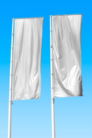 Two empty vertical banners. Blank space for write at your own photo