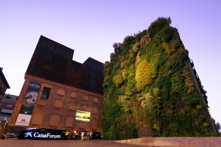 MADRID, SPAIN-AUGUST 31  Caixa Forum on August 31, 2013 Madrid  Caixa Forum Madrid is a museum and cultural center  It is sponsored by La Caixa  Facade of plants by botanist Patrick Blanc  Editorial