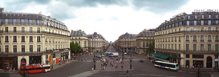 PARIS-AUG 8  Panoramic view of place de l