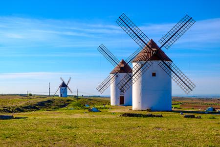 Castilla La Mancha, İspanya yel değirmenleri Görünüm