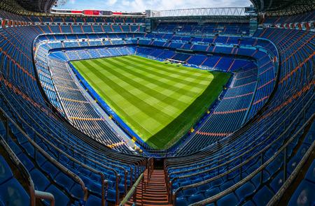 MADRID, İSPANYA-18 Ağustos: Real Madrid Santiago Bernabeu Stadyumu 18 Ağustos 2014 tarihinde Madrid, İspanya. Real Madrid CF 1902 yılında kurulmuştur. Editorial