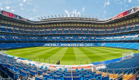 MADRID, SPAIN-AUGUST 18: Santiago Bernabeu Stadium of Real Madrid on August 18, 2014 in Madrid, Spain. Real Madrid C.F. was established in 1902.