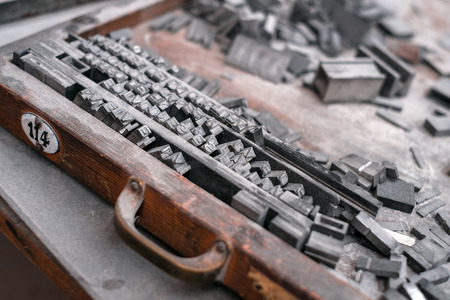 Letterpress type characters of letter - typography photo