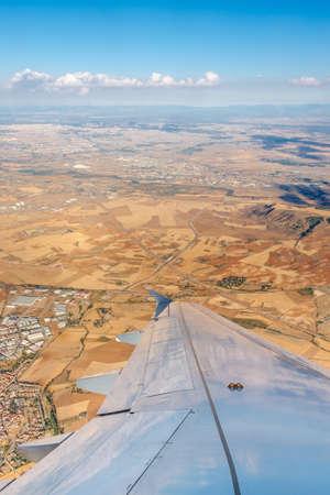 Uçak penceresinden gör Stock Photo