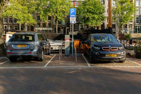 capita: AMSTERDAM, NETHERLANDS - SEPTEMBER, 2014: The fleet of plug-in electric vehicles in the Netherlands is the second largest per capita in the world after Norway