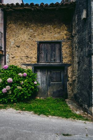 Old house in a village in Asturias, northern Spain