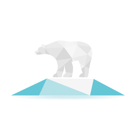 Abstract bear isolated on a white backgrounds