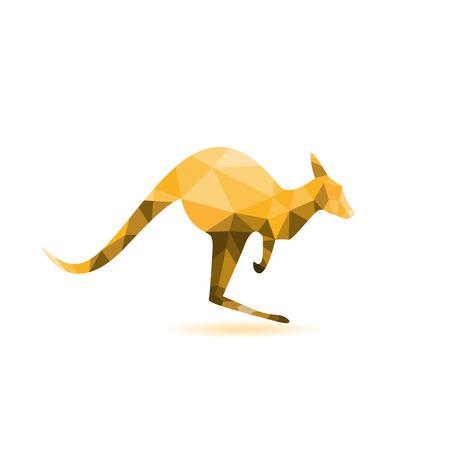 Kangaroo Silhouette - Vektor-Illustration, abstrakte Geometrie Standard-Bild - 23831303