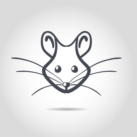 rata caricatura: Vector de imagen de una rata en un blanco