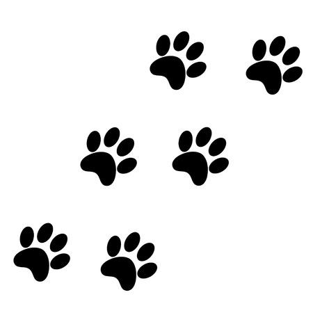 siluetas de animales: Impresiones de la pata