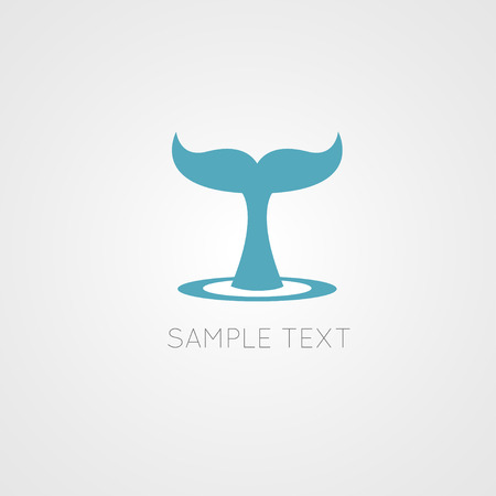 whale: Conte de baleine - illustration vectorielle