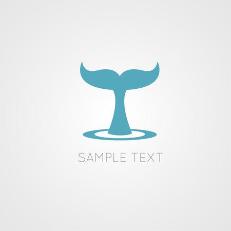 Whale verhaal - vector illustratie