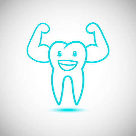 Dental Tooth Mascot Cartoon Character  Vector