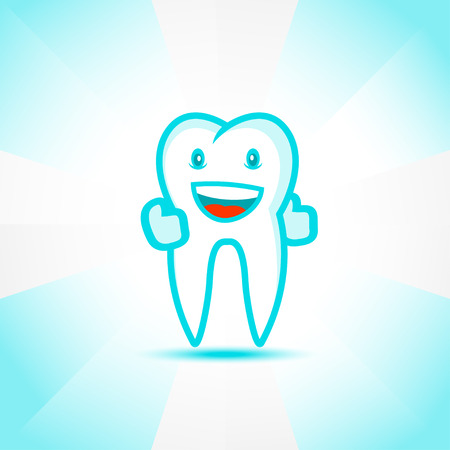 tooth paste: Smiling tooth