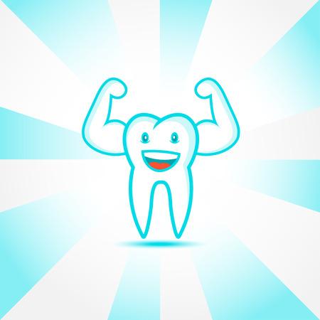 Lächelnde Zahn