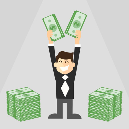 wealthy businessman Vector