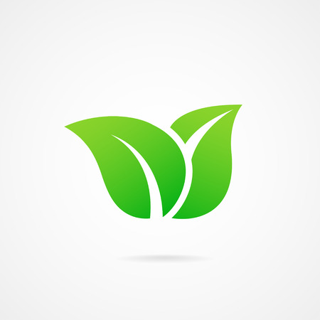 yellow leaves: vector icon leaf