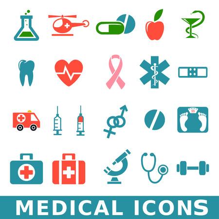 Medicine   Heath Care icons Vector