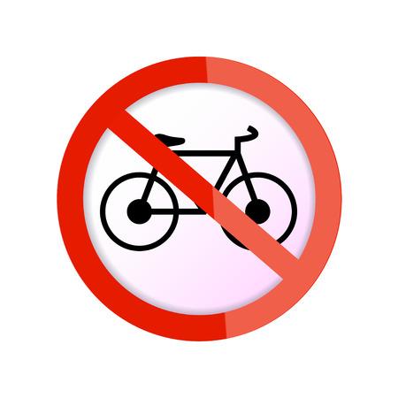no bicycle sign  no bikes symbol  Vector