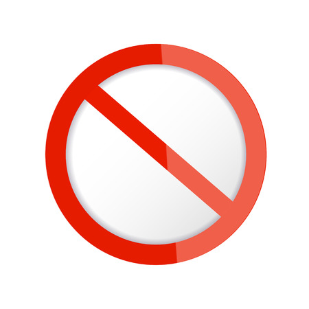 no icon: Red Stop Sign  Vector Illustration Illustration
