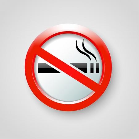 no fumar: ningún vector de fumar