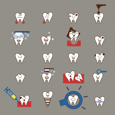 Teeth treatment set Vector