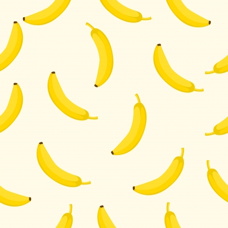banana illustration: Seamless background with yellow bananas  Vector illustration