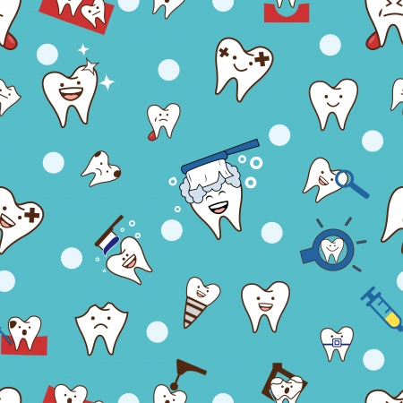 Seamless teeth pattern