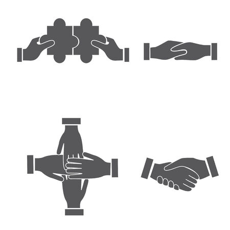 hand sets Vector