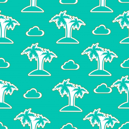 coconut trees: Seamless palm pattern  vector