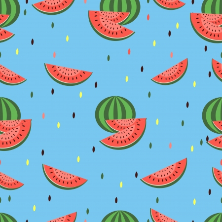 Vector seamless pattern with watermelon Vector