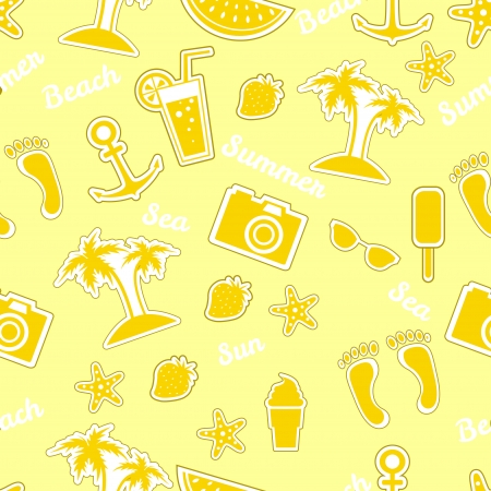 Vector beach pattern for summer