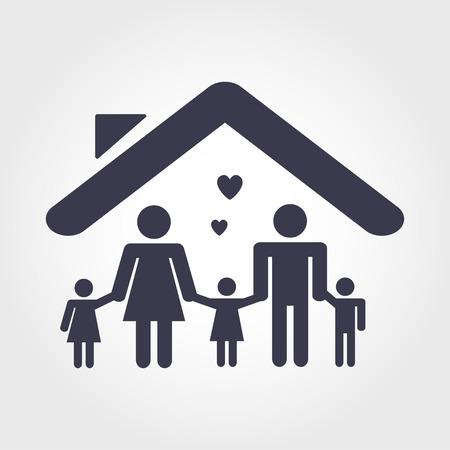 gens heureux: Concept de famille