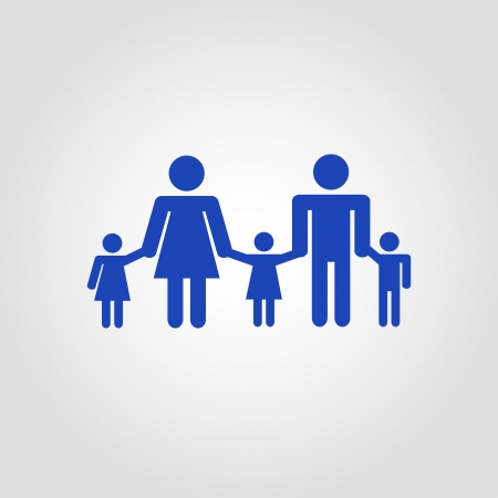 family icon over white background  vector illustration Vector